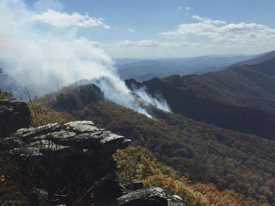 Monongahela Forest fire