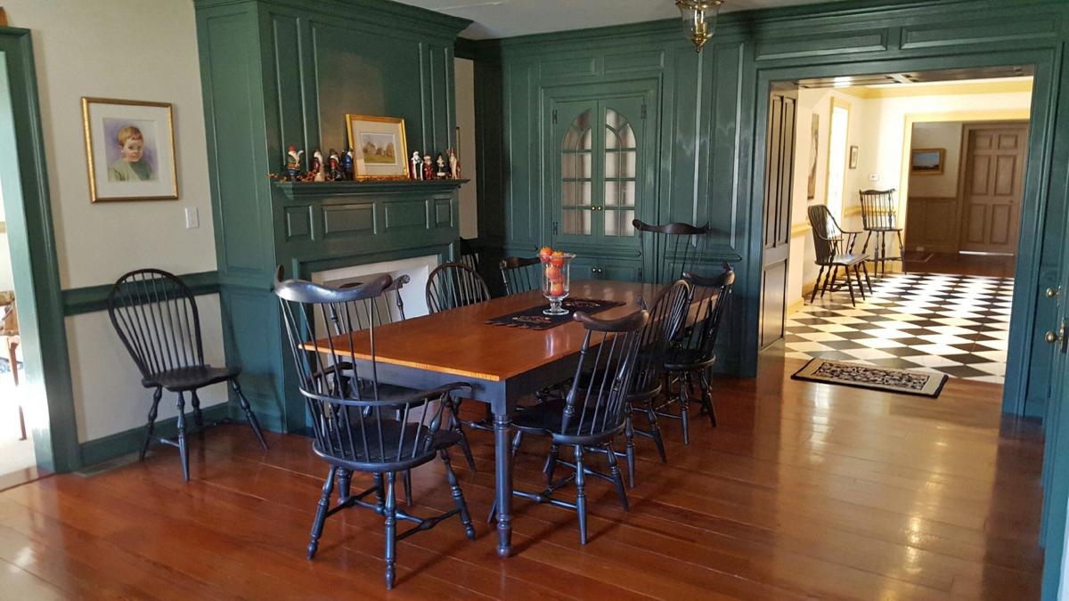 farm table with Windsor chairs