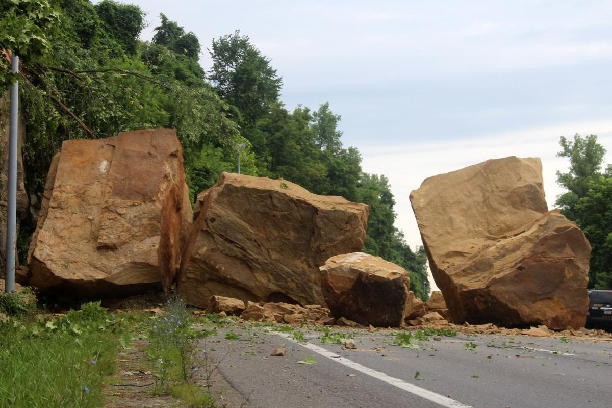 Highways: May take a few days to clear Huntington boulder blockage ...