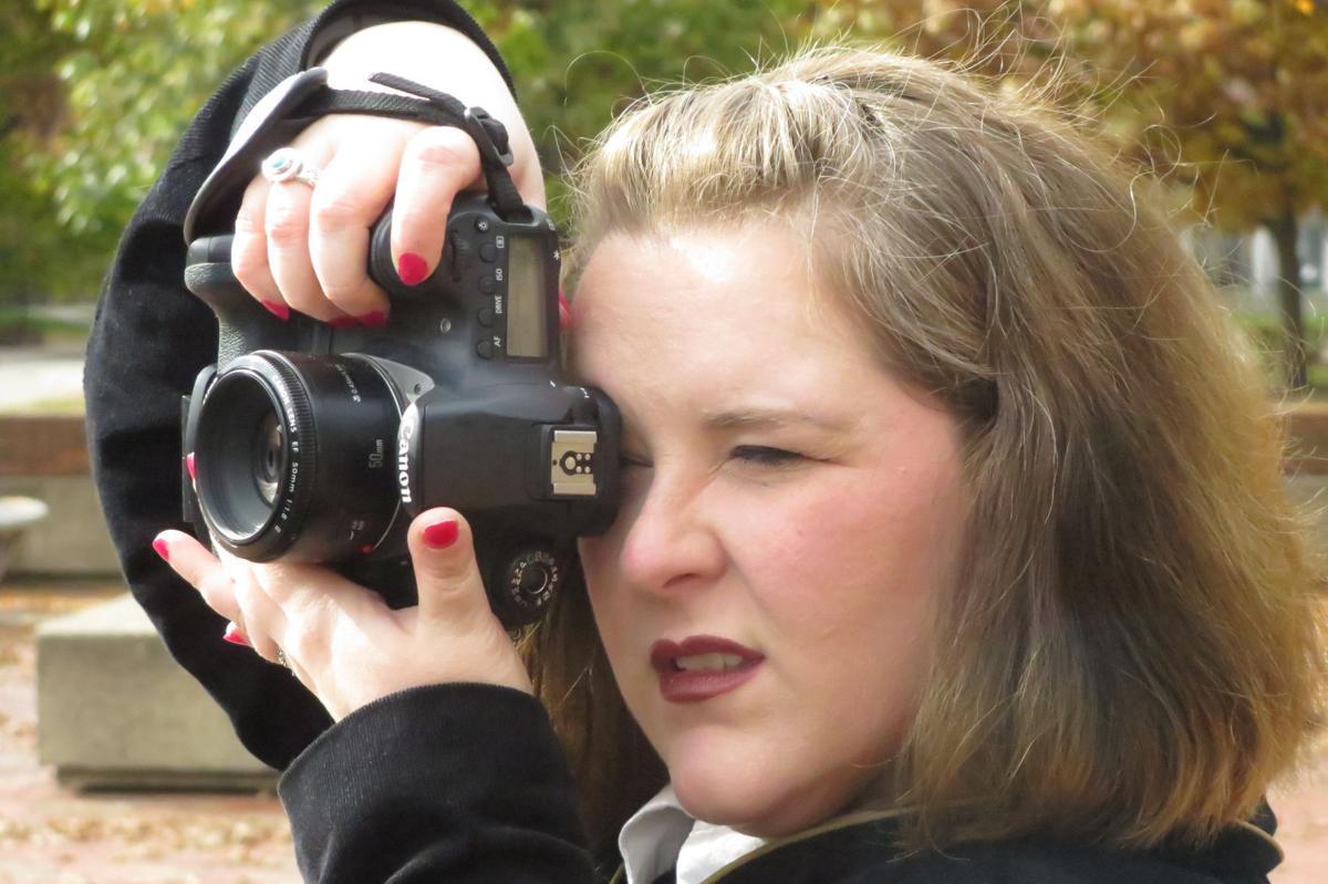 Carrie McCracken taking photo