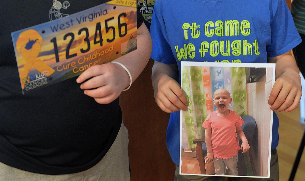 PHOTO: WV debuts childhood cancer license plate | Health