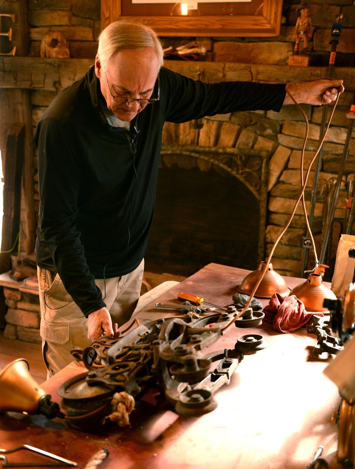 Man turns odd Americana into ornate lighting fixtures | Arts