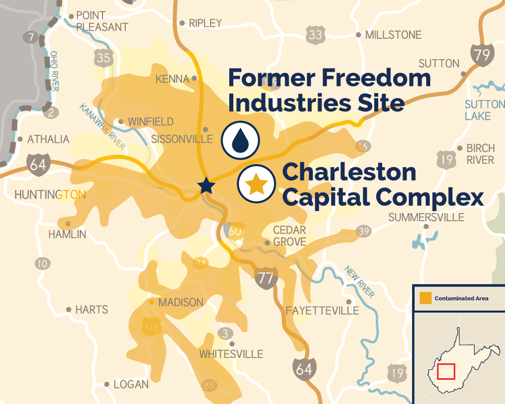 Charleston Wv Map on