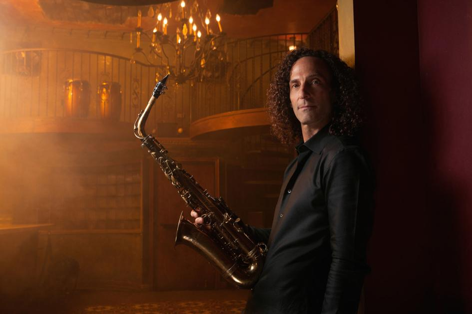 Kenny G performing at the Clay Center Thursday night