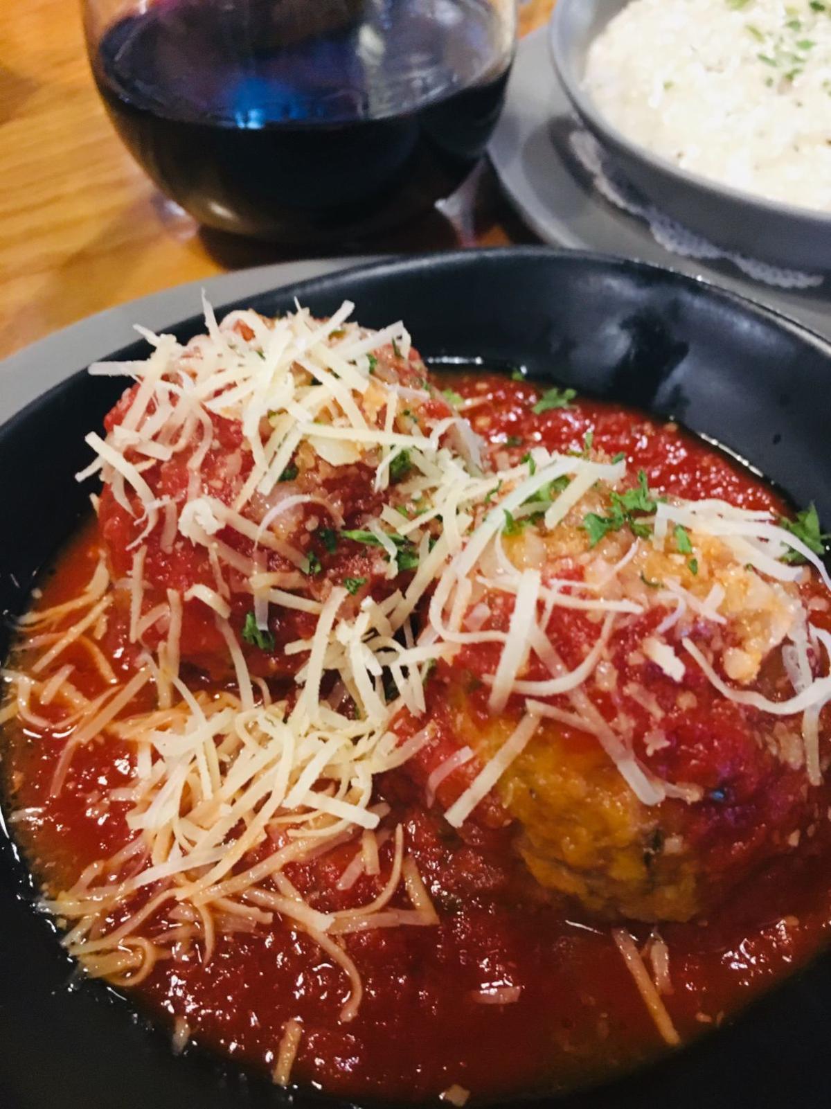 20190904-gm-food-guy-meatballs and choc torte.jpg