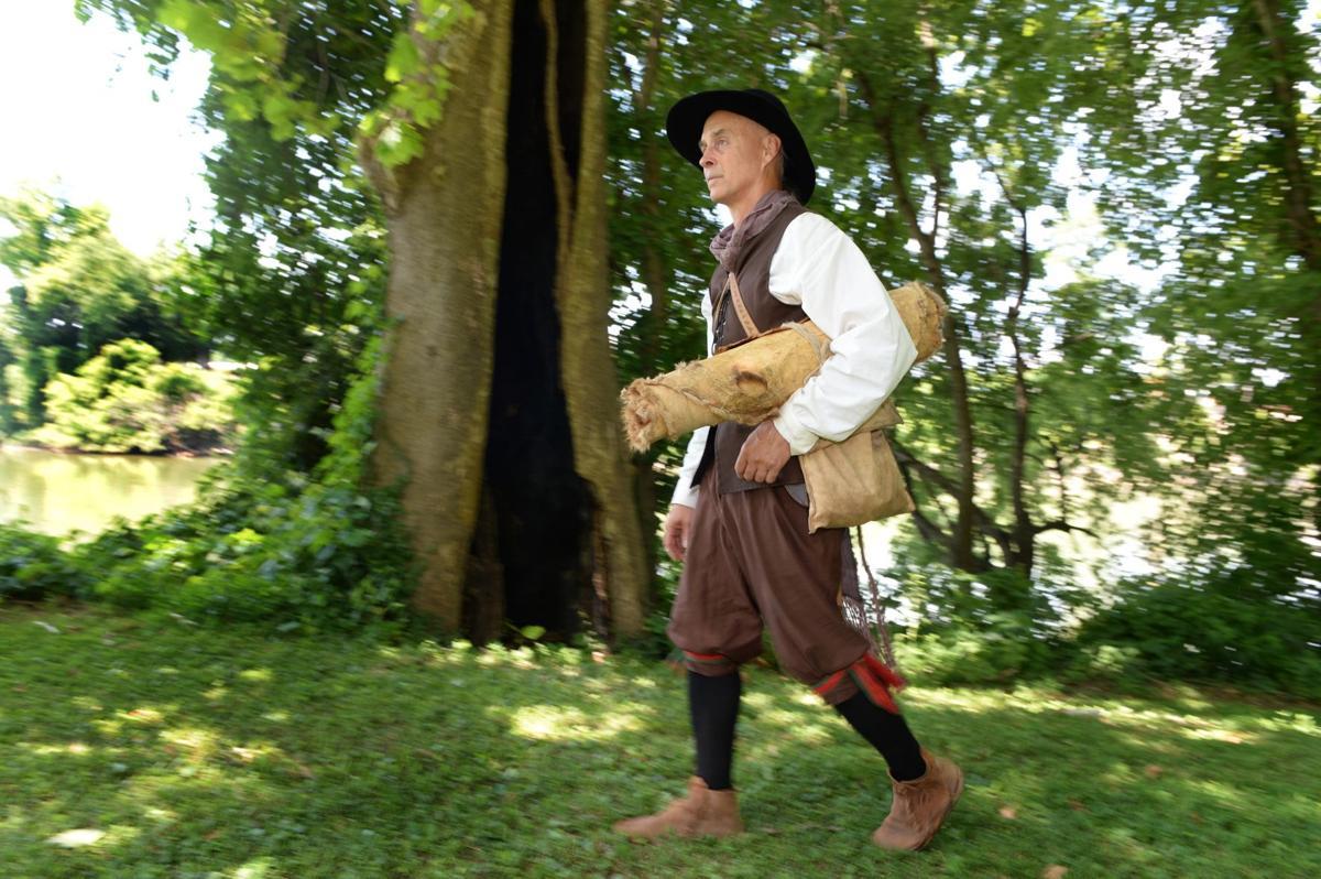 Presenter re-enacts 17th-century man's journey through Kanawha Valley