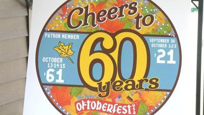 Oktoberfest 60th sign