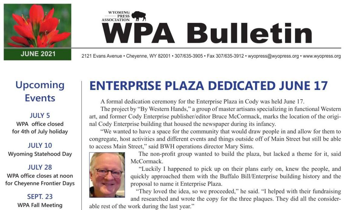WPA June 2021 Bulletin