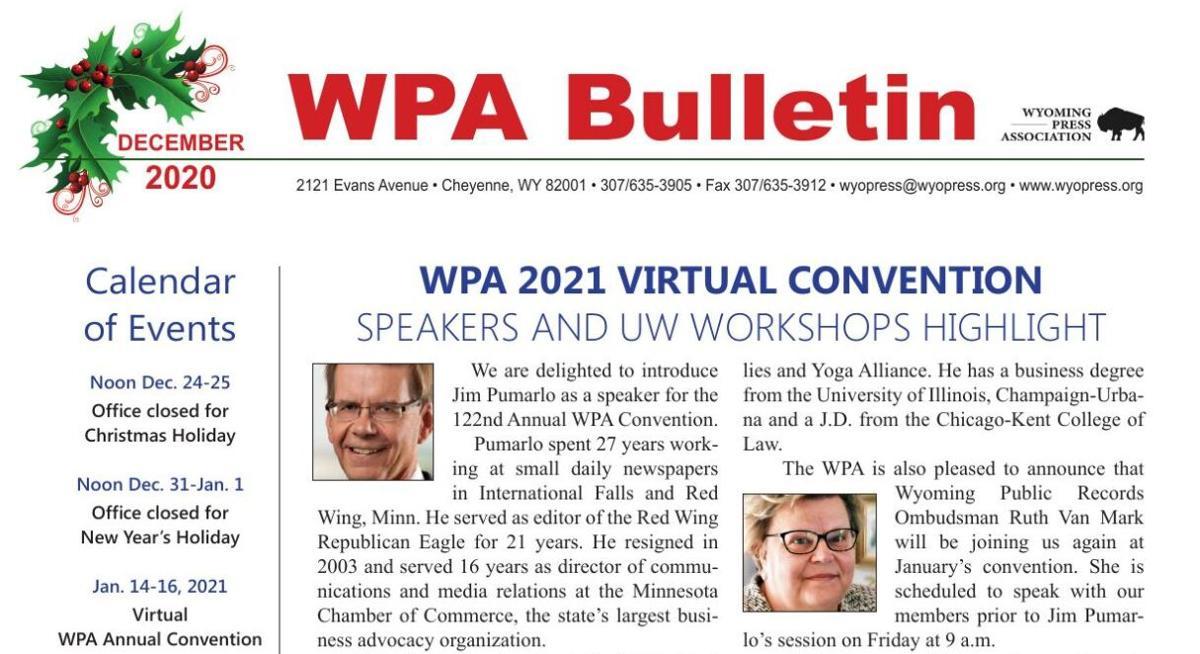 WPA December Bulletin
