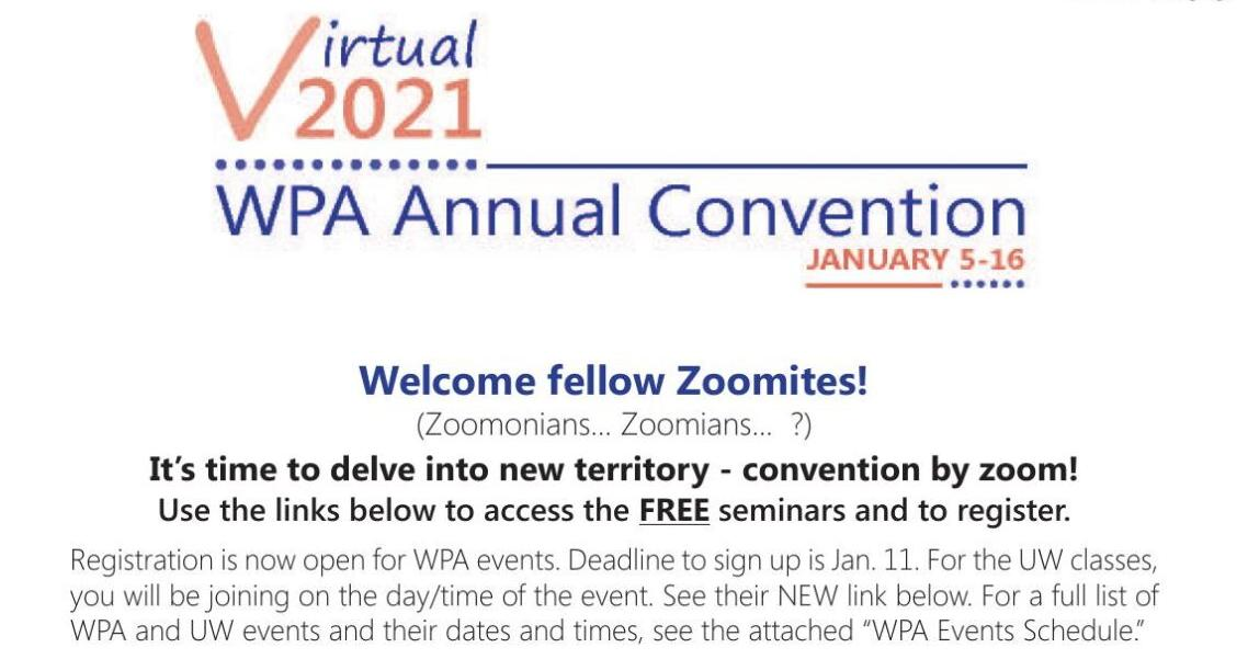 122nd Annual WPA Convention Goes Virtual