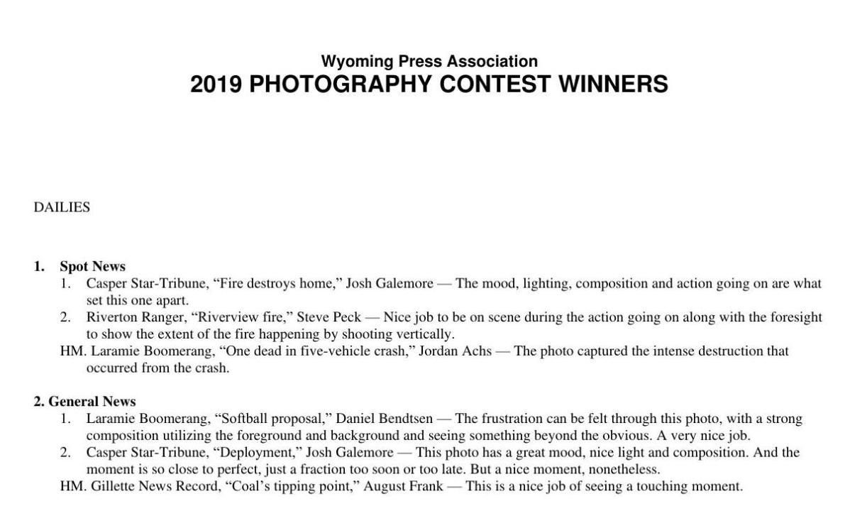 2019 Photography Contest Winners