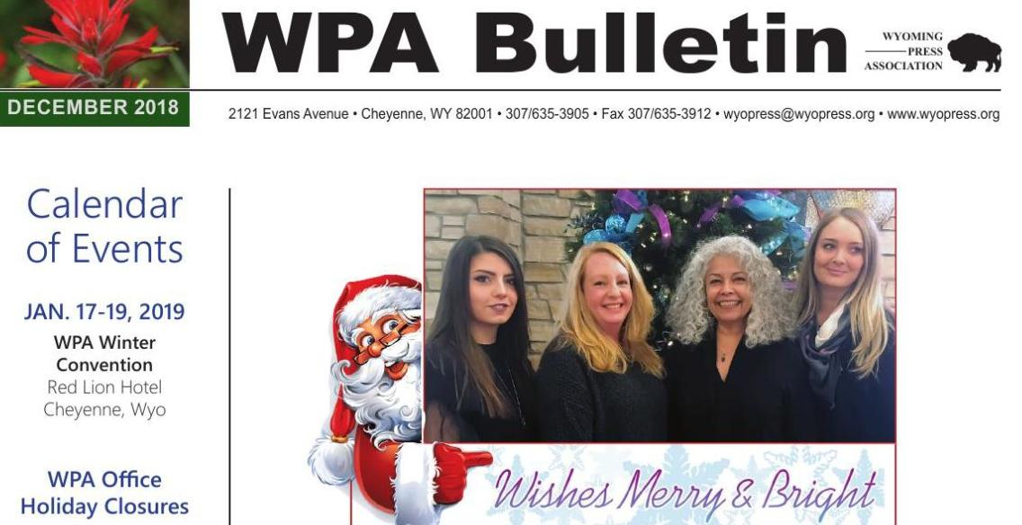 December 2018 WPA E-Bulletin