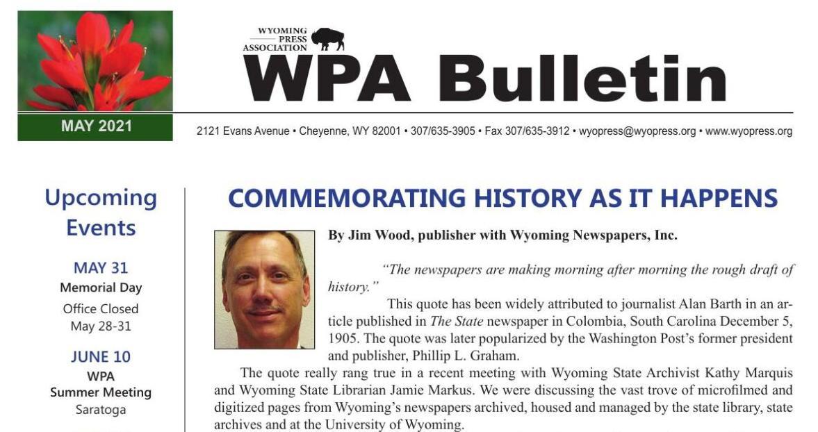 WPA May Bulletin