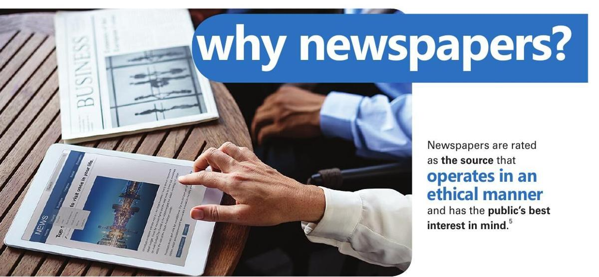 Newspapers the most trusted source