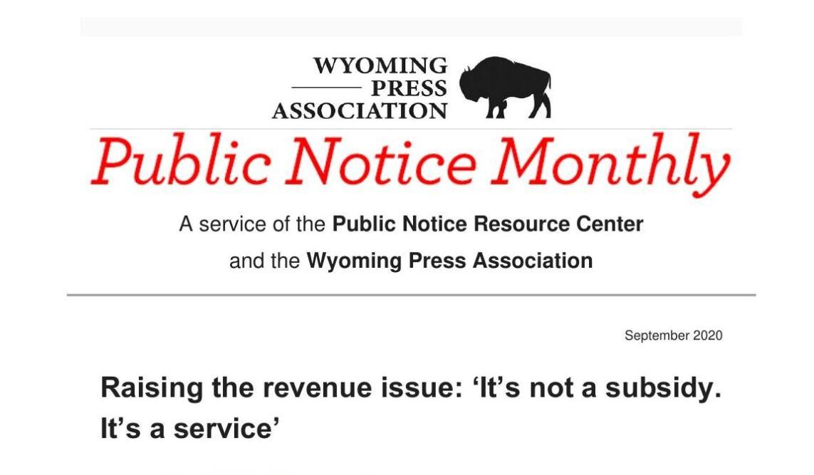 Public Notice Monthly