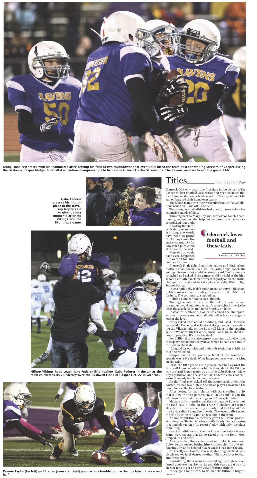 Title Town, Mike Moore, Glenrock Independent