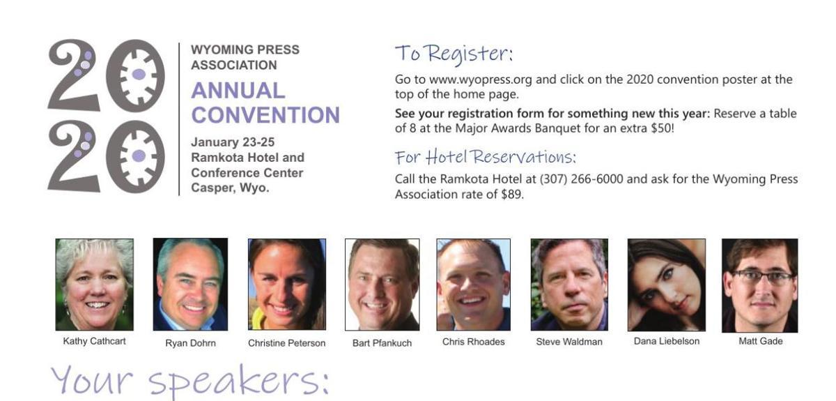 2020 Winter Convention Speaker Flyer