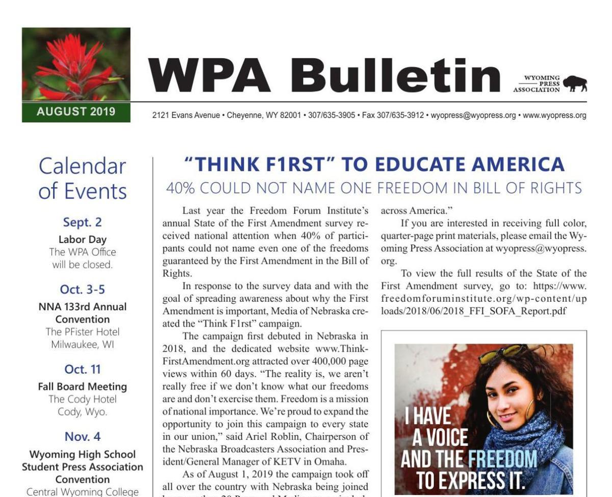 WPA August E-Bulletin