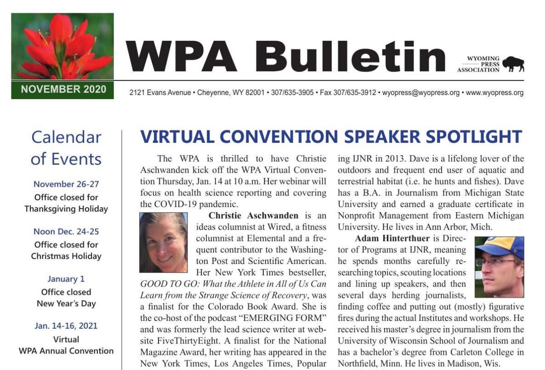 WPA November Bulletin
