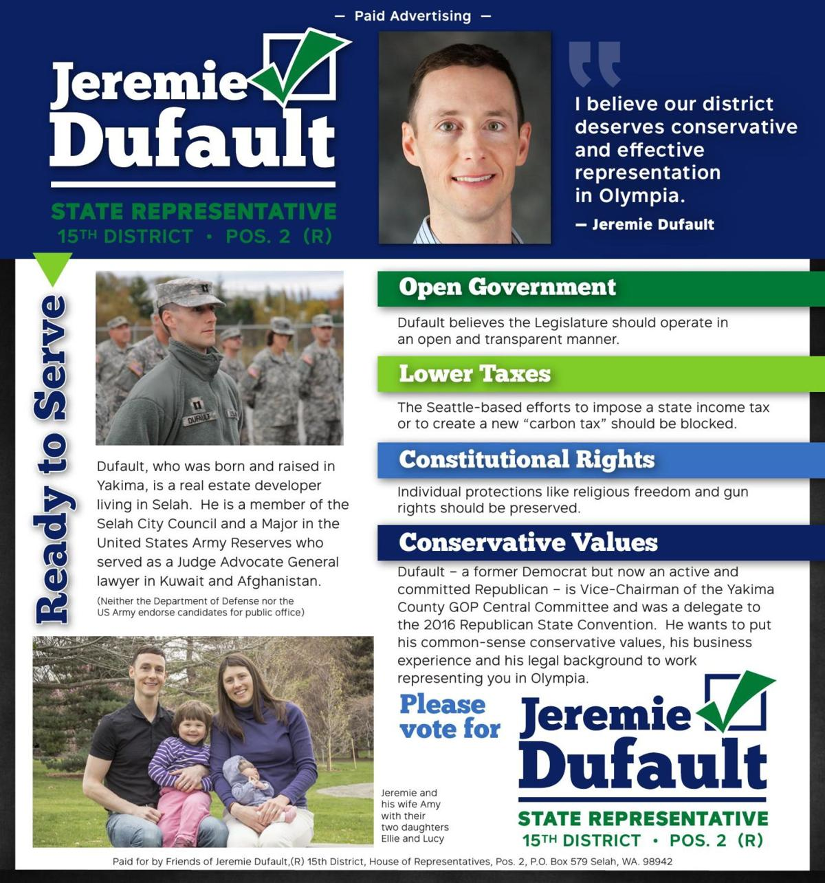 Jeremie Dufault - 15TH DISTRICT • POS. 2 (R)