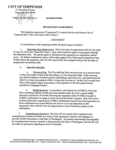Separation Agreement Yakimaherald
