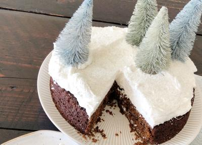 Kitchen Captivated: Chocolate Gingerbread Cake with Whipped Cream