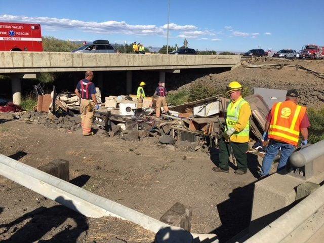Two dead, three critically injured in I-90 crash near Ellensburg