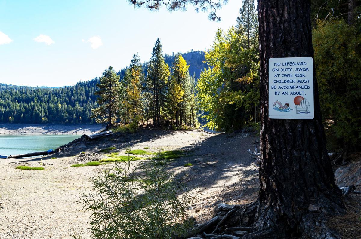 Dry swimming area at Rimrock Lake Resort