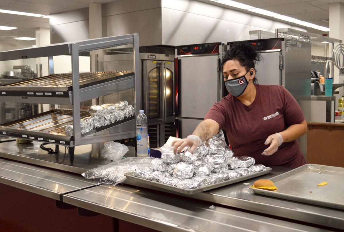 Food service worker Ashley Salas