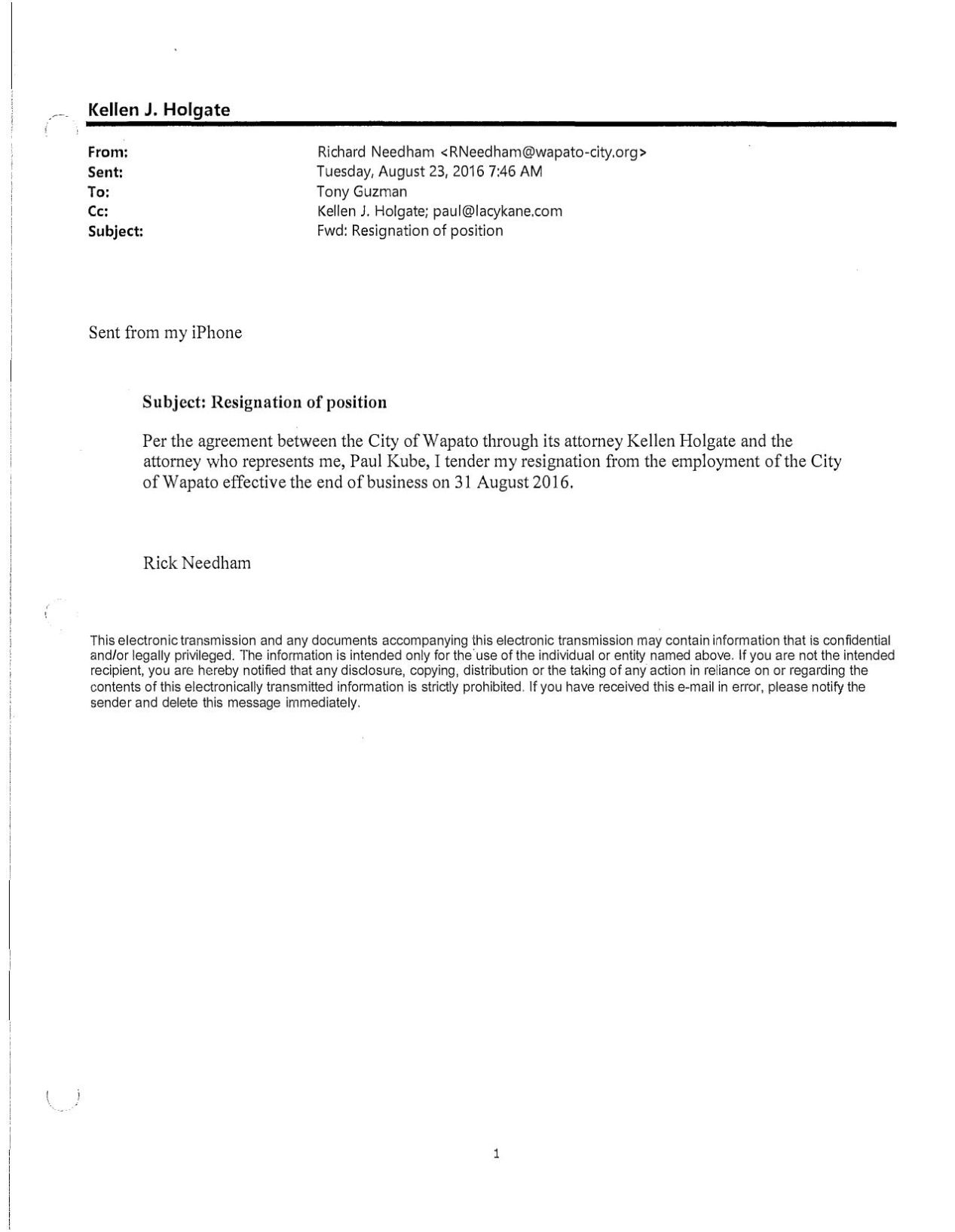 Download PDF Separation Agreement Between The City Of Wapato And Chief  Needham