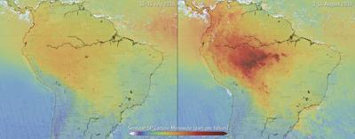 Brazil Amazon Fires Carbon Monoxide