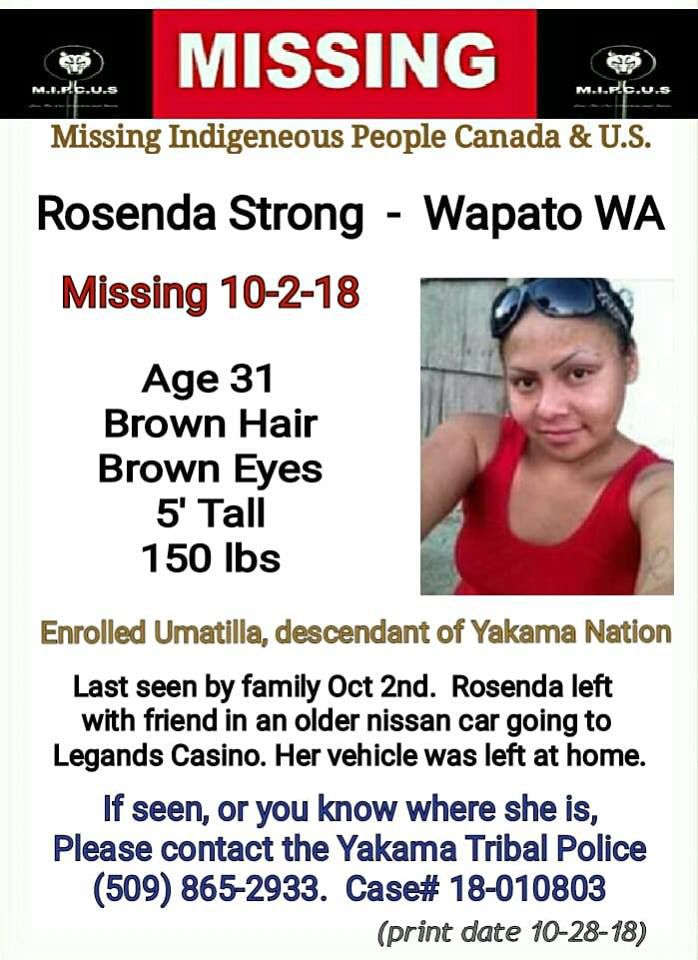 Wapato woman last seen early this month still missing