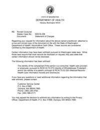 doctor statement