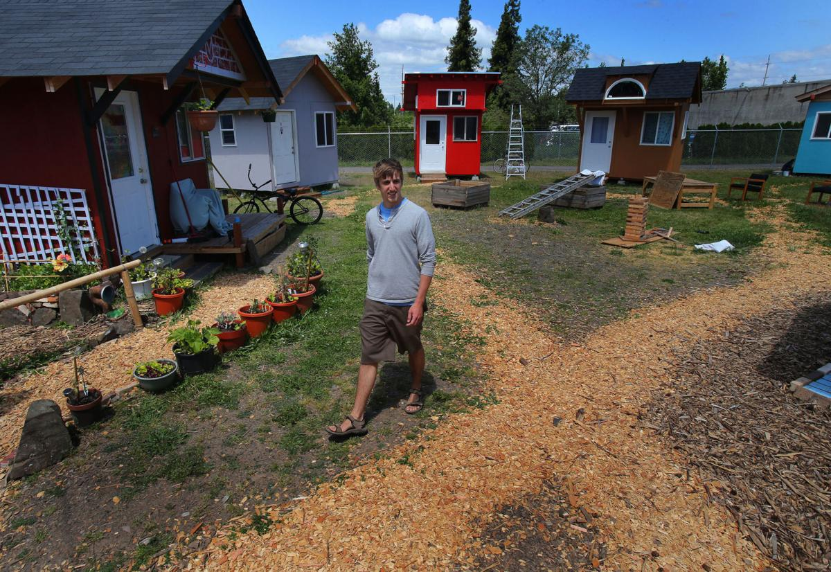 tiny house homes homeless standing