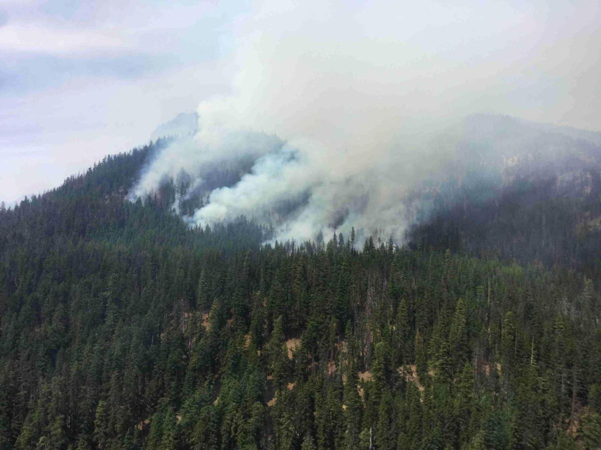 Homes Evacuated State Route 410 Closed As Norse Peak Fire Grows To