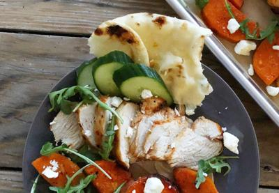 Kitchen Captivated: Chicken Shawarma with Sweet Potatoes and Hummus