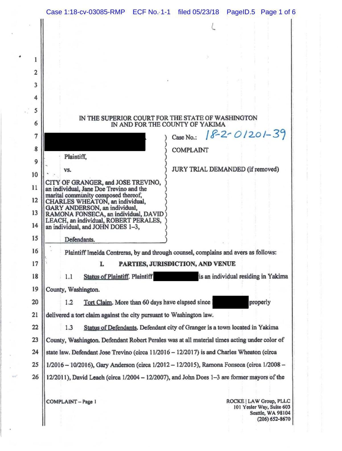 Lawsuit against Granger