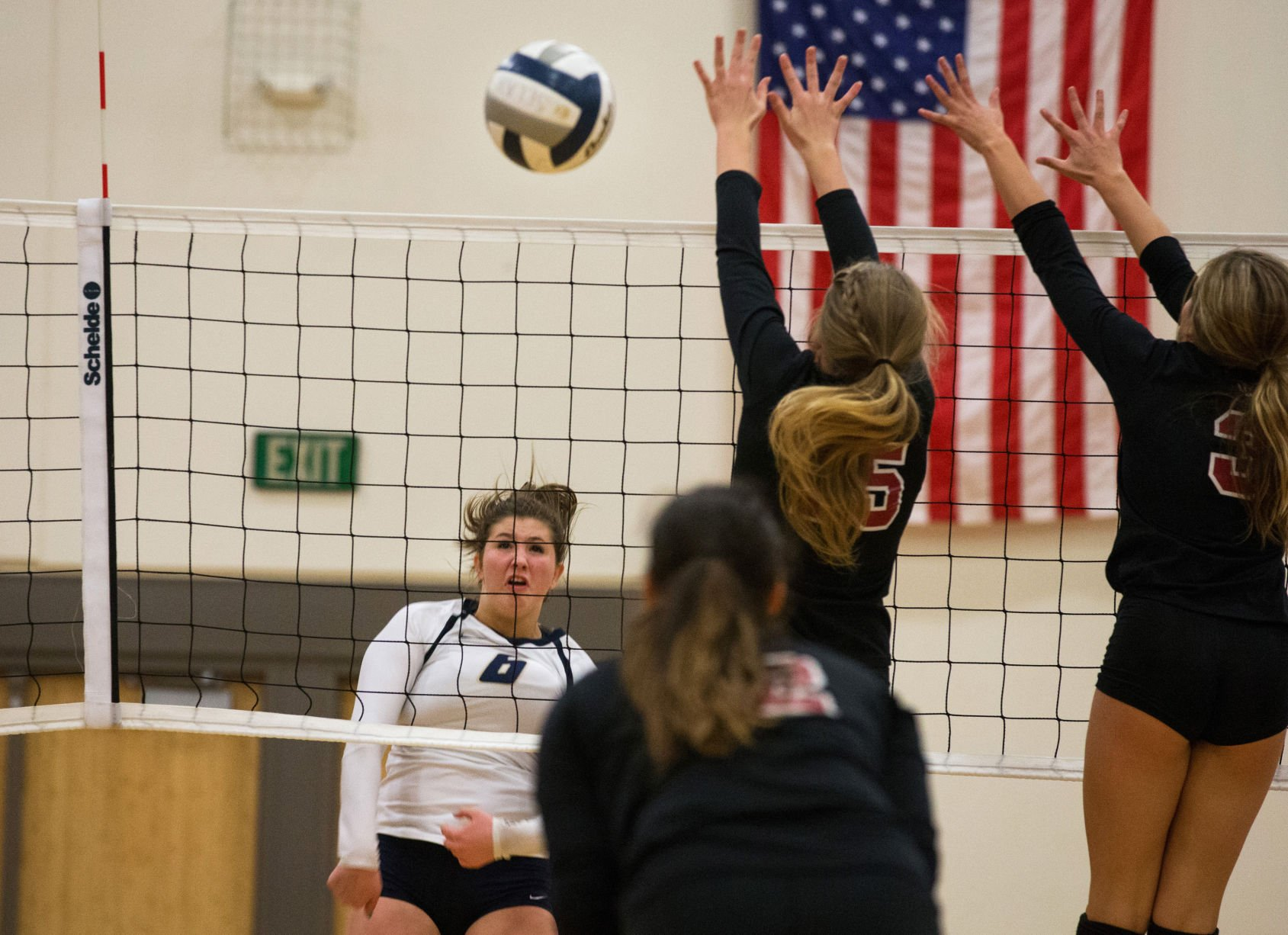 Bucs stop Saints' volleyball conference win streak