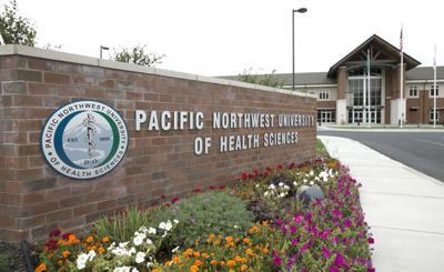 Pacific Northwest University of Health Sciences building mug