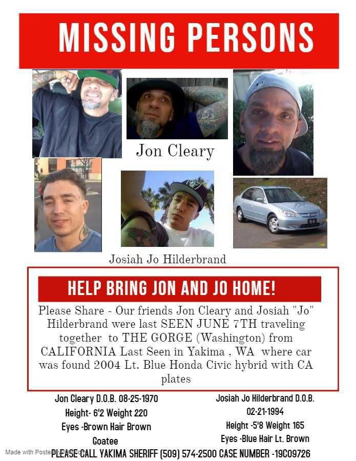 Sunday marks one month since California men went missing in Yakima County