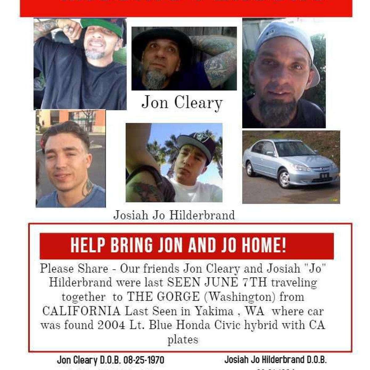 Sunday marks one month since California men went missing in