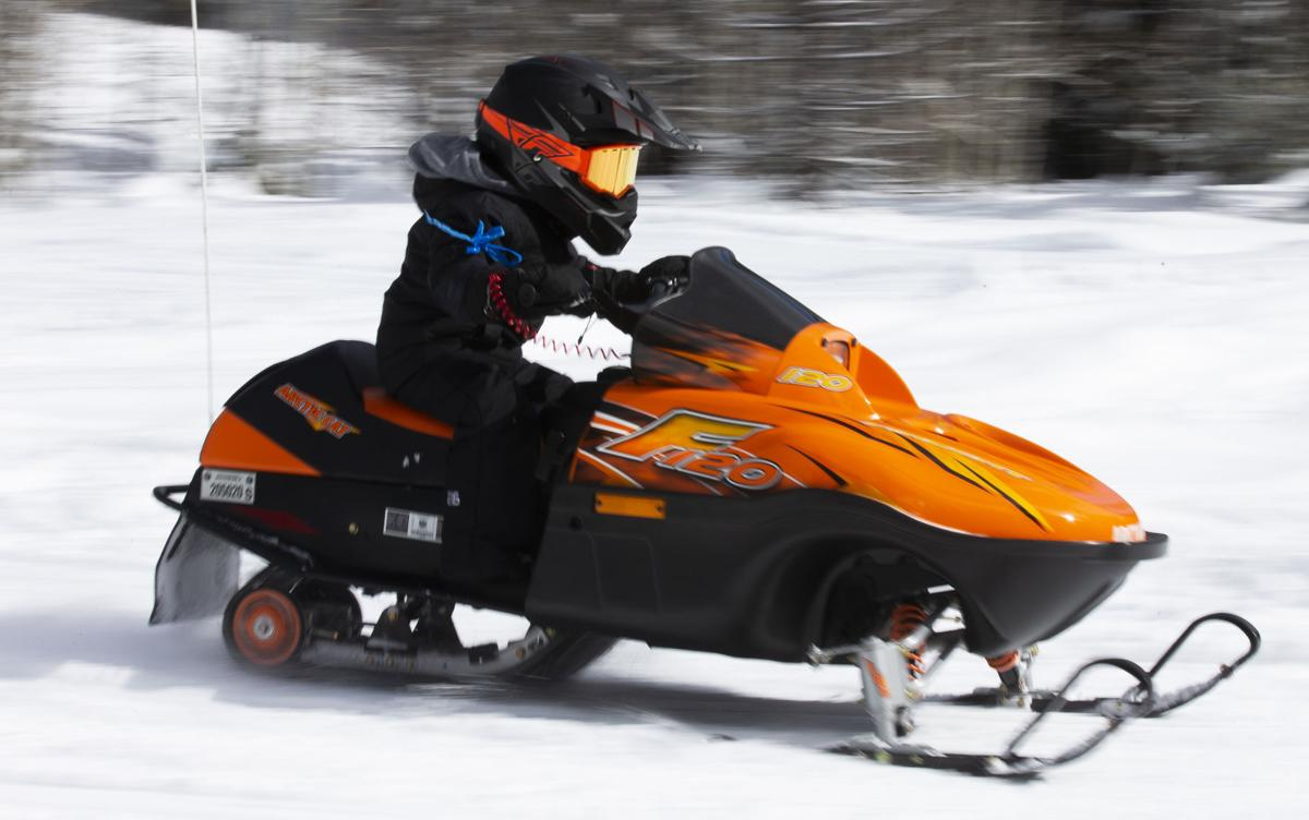 Snow Riders: Kids flock to Ahtanum for free day of snowmobiling