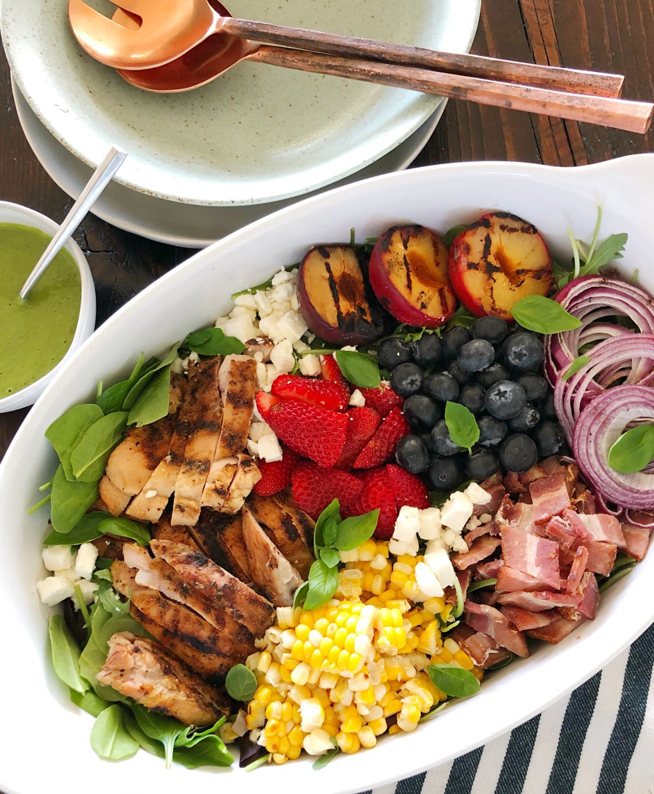 Kitchen Captivated: Grilled Summer Cobb Salad