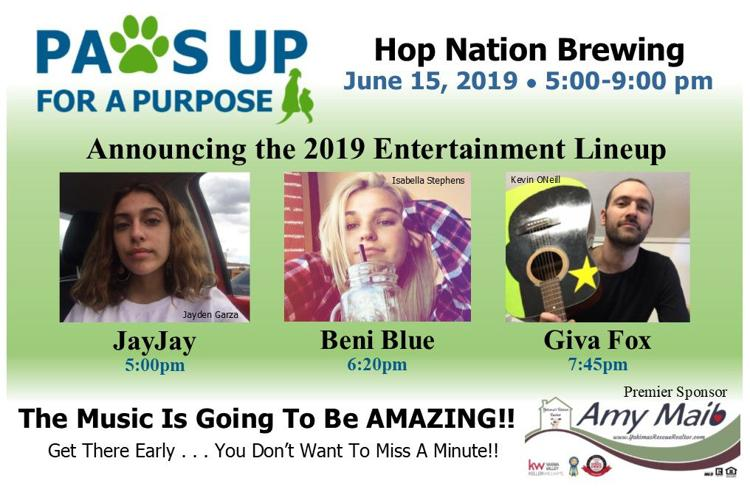 PAWS UP for a PURPOSE - Entertainment Lineup