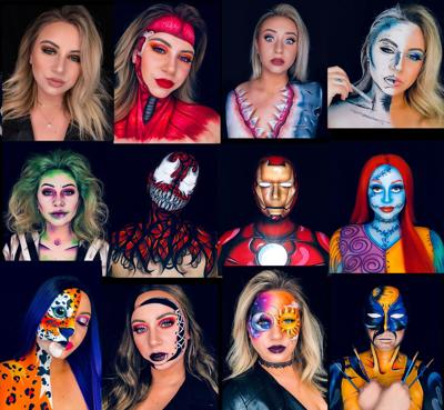 West Valley graduate getting attention for elaborate face paintings