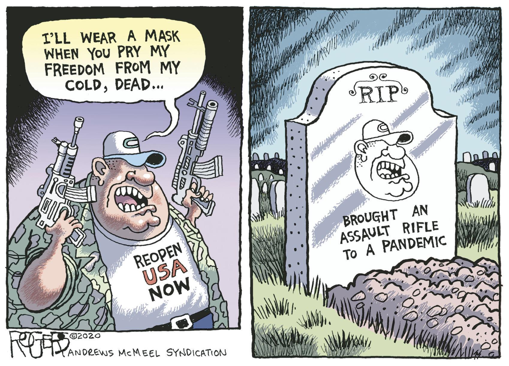 Editorial cartoon: Rob Rogers (May 16, 2020) | | yakimaherald.com