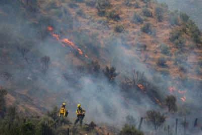 South Wenas Road Willdfire