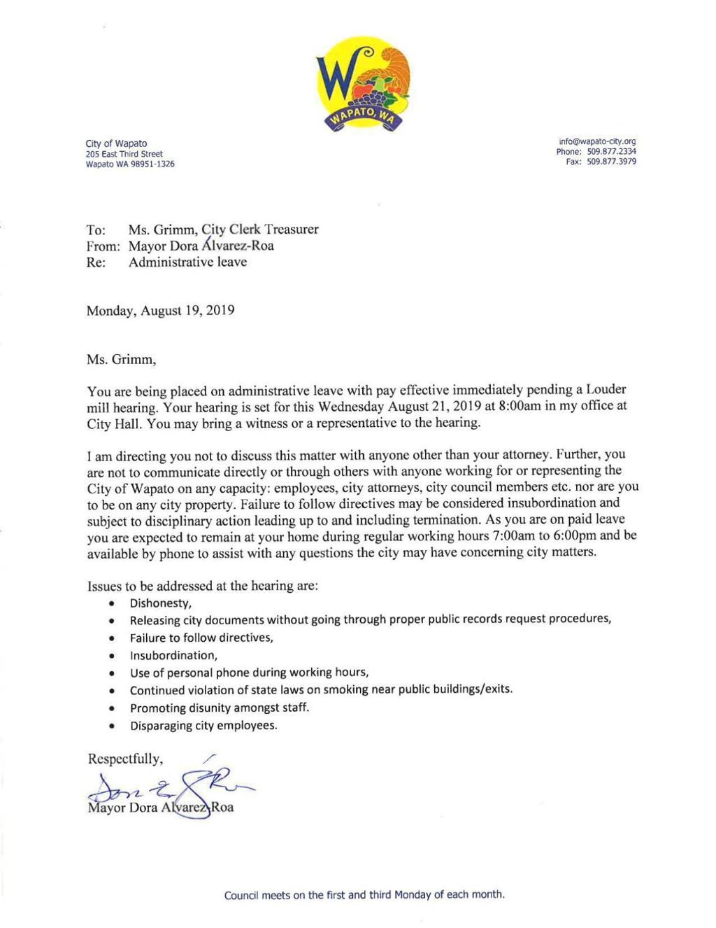 Wapato mayor fires clerk-treasurer as tensions mount   Local