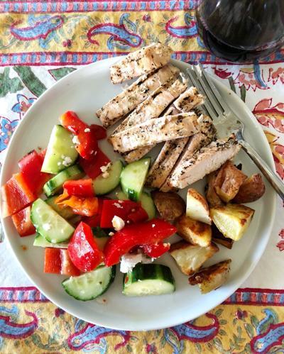 greekish marinated chicken