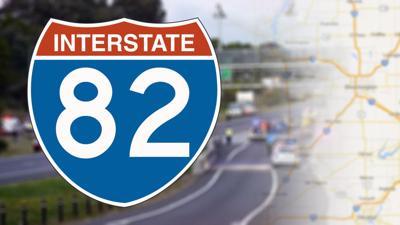 interstate 82 crash accident highway I82 standing